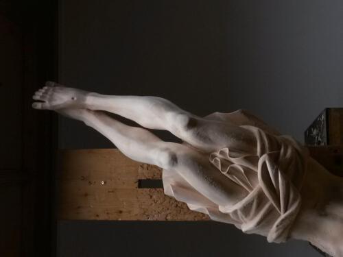 Detail geschnitzter Christus